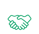 Shaking Hands Green Icon