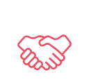 Shaking Hands Pink Icon